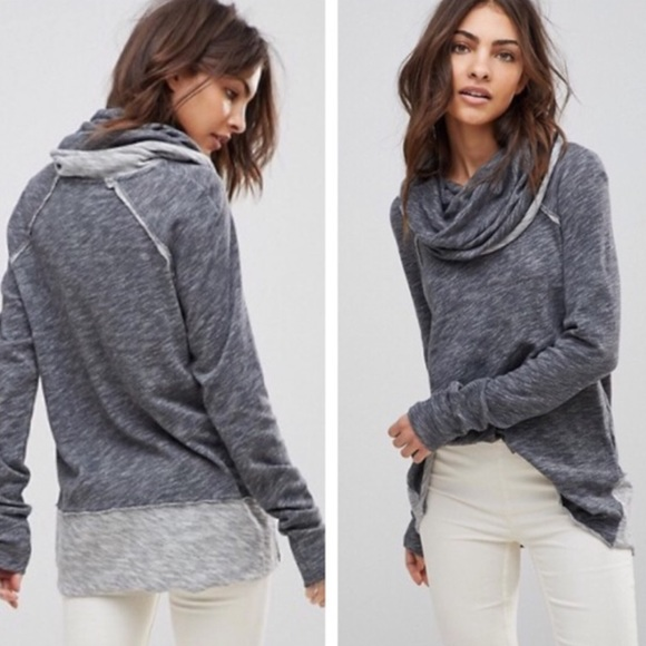 Free People Tops - Free People Beach Cocoon Cowl Neck pullover